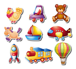 Stickers set with toys