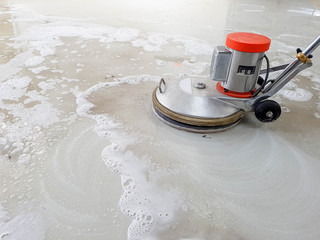 scrubber machine for cleaning floor Wall mural