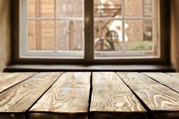 desk and window