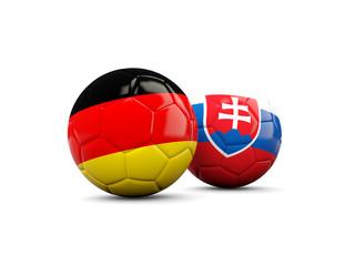 Germany and Slovakia soccer balls
