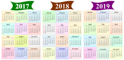 Six Year Calendar 2018 2019 2020 2021 2022 And 2023 Buy