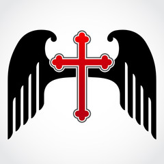 winged red cross