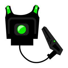 laser tag gun and vest green light