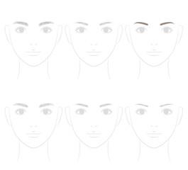 眉の形 眉毛トリミング