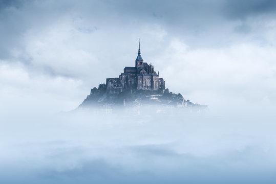 Mont saint michel in the mist