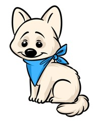 Dog small cartoon illustration isolated image animal character