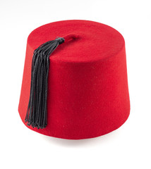 moroccan fez isolated