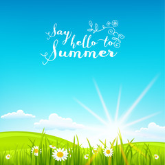 Beautiful summer background