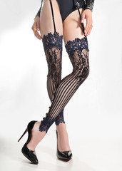 Unusual stockings with a belt deluxe