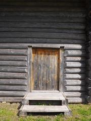 door in a wooden house