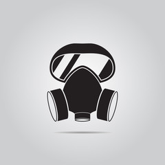 respirator vector icon for web and mobile