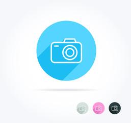 Camera Long Shadow Icon