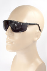 Black Protective Welding Glasses on white background