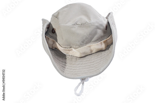 51574ca1d39 Bucket hat - Asian cowboy hat closeup isolated on a white background ...