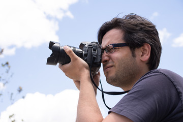 Young male photographer
