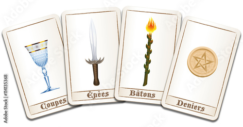 Tarot Cards French Names Of The Symbols Cups Swords Wands