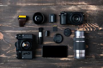 Trip concept - items of men's accessories
