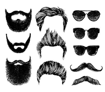 Hipster style and fashion vector illustration set.