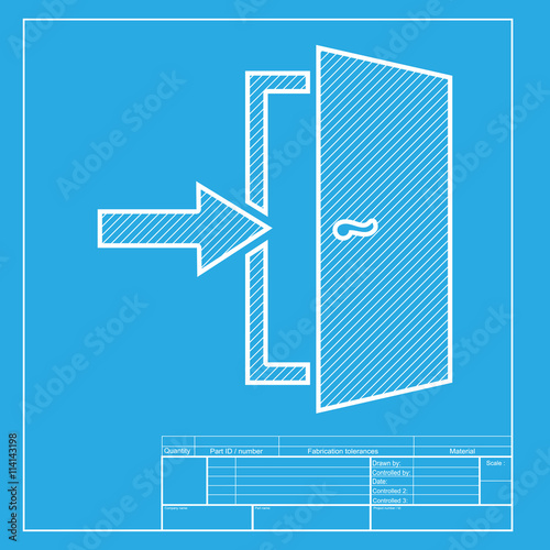 White Section Of Icon On Blueprint Template