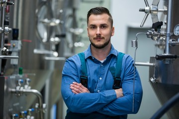 Portrait of maintenance worker at brewery