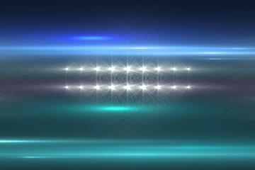 Composite image of spotlights