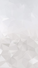Abstract silver polygonal triangular background.