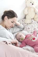 Watching the baby's sleep