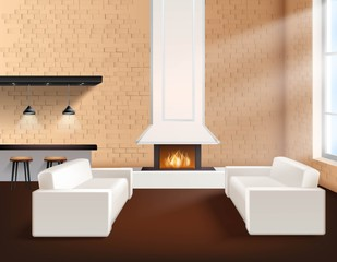 Realistic Loft Interior