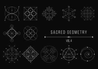 Sacred Geometry Bundle. Vector Illustration