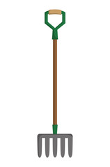 Rake  icon. Gardening design. Vector graphic