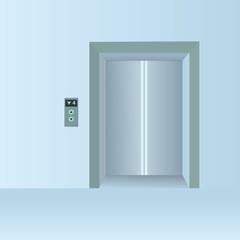 Closed Doors Elevator Vector Illustration