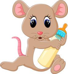 illustration of Cute mouse cartoon