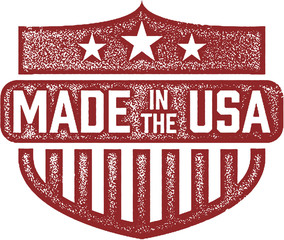 Made in the USA Stamp Shield