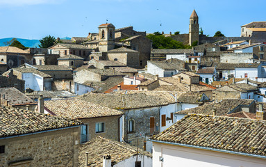 Panorama of Bovino, one of the most beautiful villages in Italy. Puglia - Italy