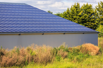 Photovoltaic Solar Panels on agricultural warehouses