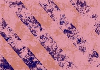 Abstract drawn grunge background in pink colors with diagonal stripes. Banner with effect of crumpled paper with scratches, abrasion, crack. Series of Grunge, Oil, Pastel, Chalk and Inc Backgrounds.