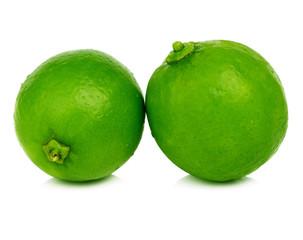 lime fruit isolated closeup on white background