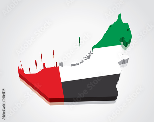 3d vector flag map of the united arab emirates uae for 3d wallpaper for home uae