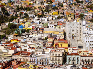 Buildings of many colors Mexico