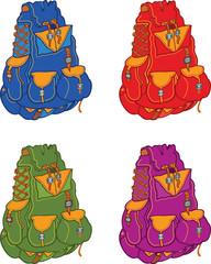 Set of travel backpacks