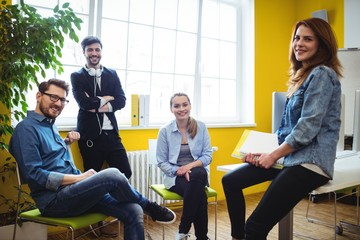 Portrait of happy business people