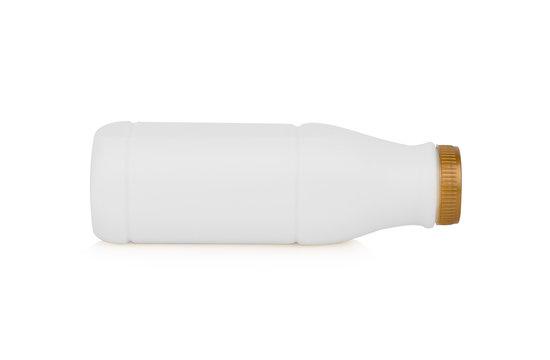 plastic white bottle milk isolated on white background