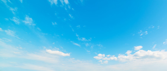 small clouds in a summer sky