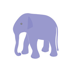 elephant. flat. logo, symbol. vector illustration.