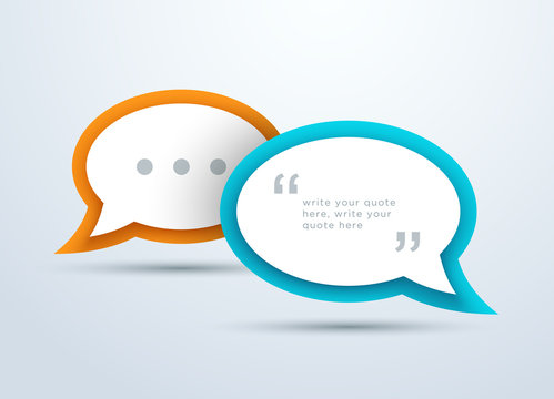 Speech Bubbles Overlapping With 3d Shadows Design A
