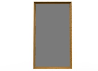 3d illustration of frame for picture. icon for game web. white background isolated.
