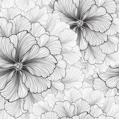 Floral background. Flower pattern. Flourish seamless texture