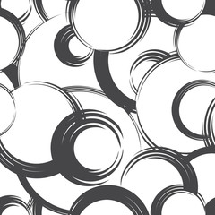Abstract geometric circle seamless pattern. Bubble ornamental background