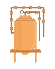 Metal machine icon. Industry . vector graphic