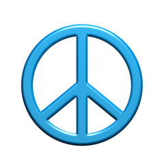 Peace Symbol. 3D rendering illustration